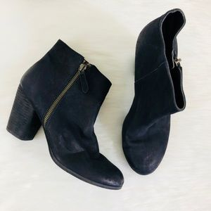 BP. Black Leather Ankle Booties